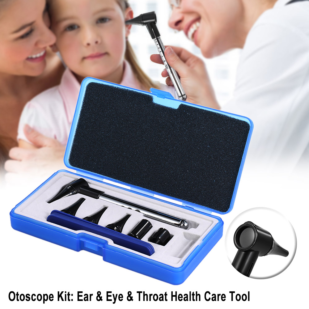 Otoscope Ophthalmoscope Stomatoscop Set Ear & Eye & Throat Health Care Medical Equipments Diagnostic Penlight Otoscope Kits ear care medical diagnostic tool 3 0 inch ear nose scope throat oral cavity otoscope tv video inspection camera lcd tool h7jp