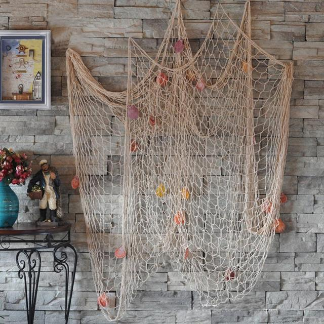 High Quality Fashion Nautical Fishing Net Seaside Wall Beach Party Sea Shells Home Garden Decor