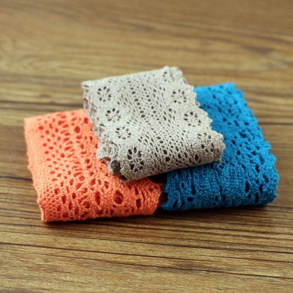 1 jarda de tecido de renda de algodão, diy, algodão, crochê, renda, tecido decorativo, material algodão