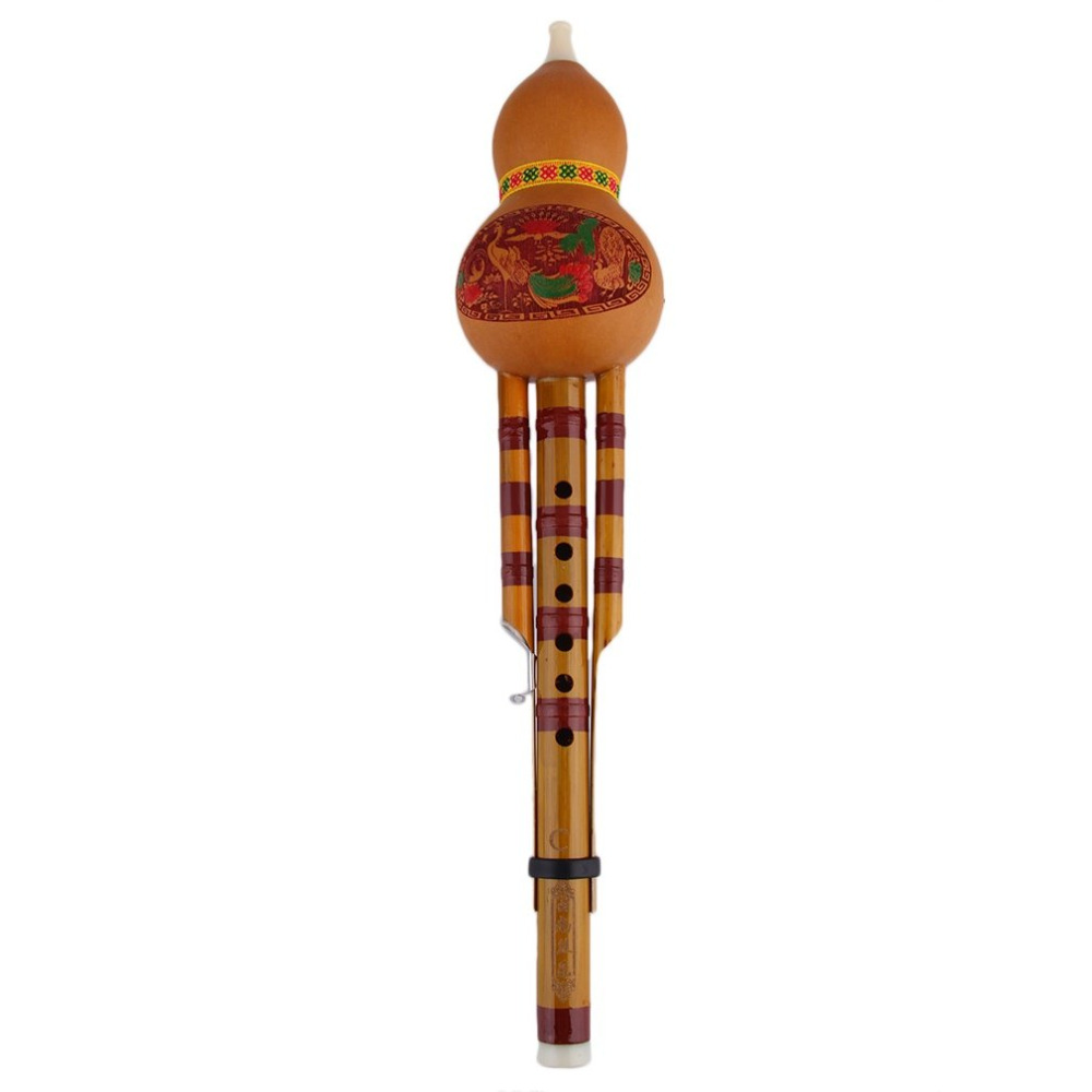 TSAI Flute Bamboo Raw Material resin plastic Simple and Elegant Chinese Yunnan hulusi Flute Ethnic Musical