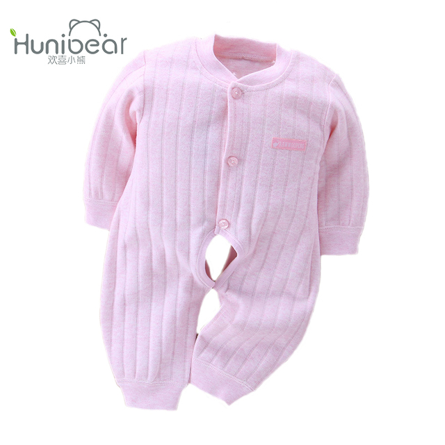 79e2f3adf698 Baby Rompers 2017 Baby Boy Girl Clothes Long Sleeves Open The Crotch 1-12  Months Jumpsuit Clothing Newborn romper Toddler Infant