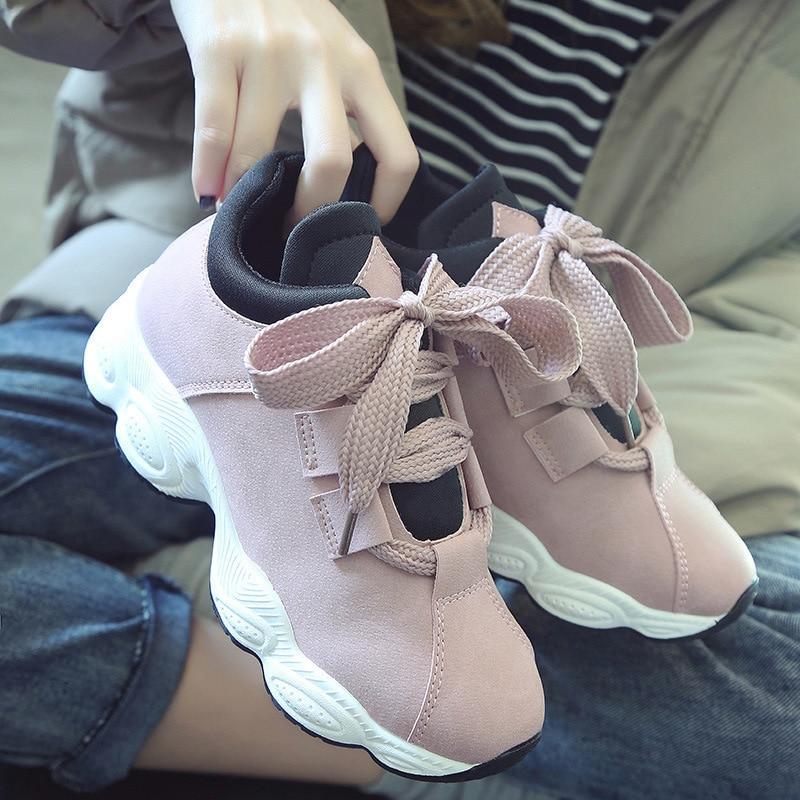 Új 2018 tavaszi új koreai változata Harajuku vad cipő fűződik - Női cipő