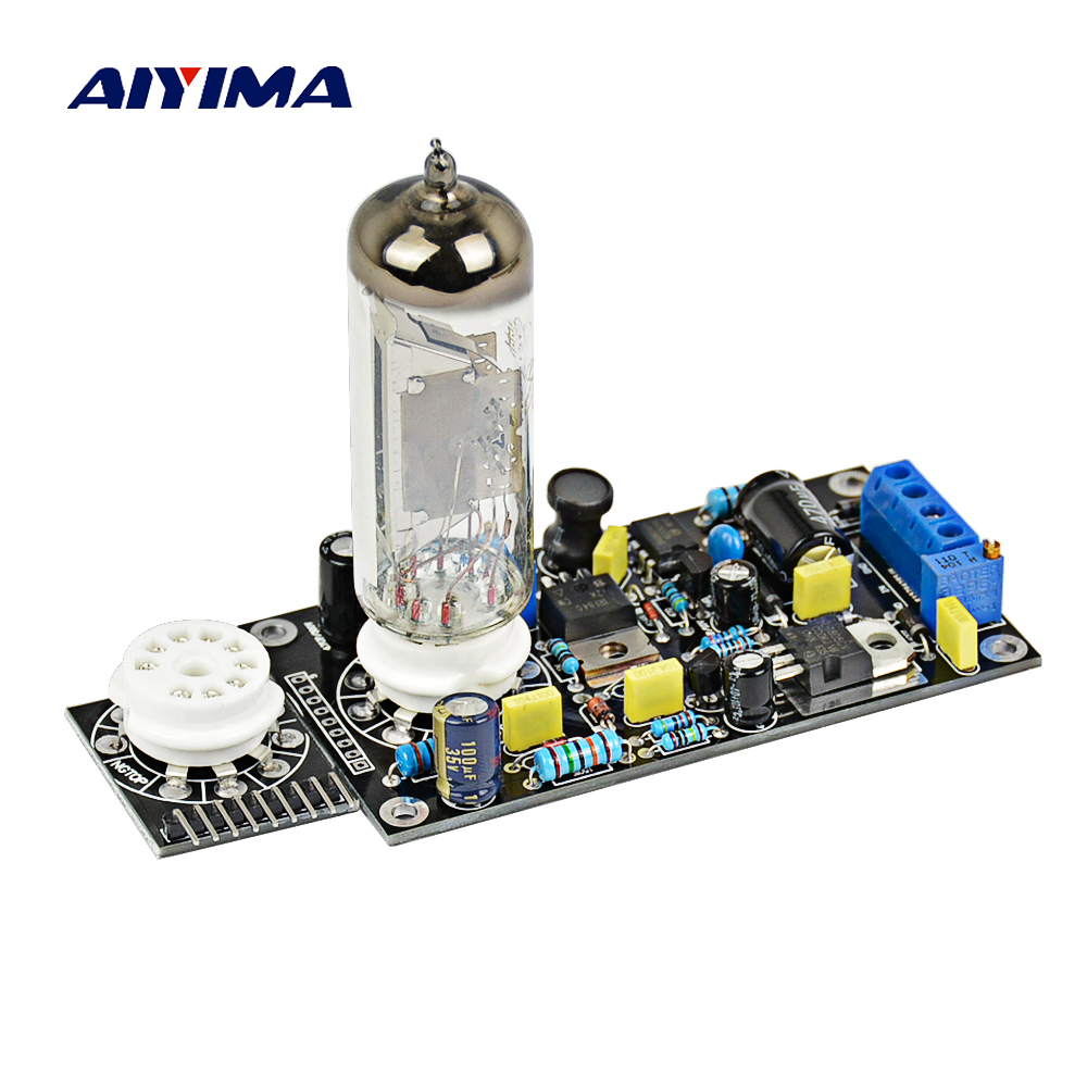 Aiyima 6E2 Tube Drive Pre-amp Tube Amp Board DAC Audio LED Level Indicator Meter VU Voltan Rendah Mata Magic