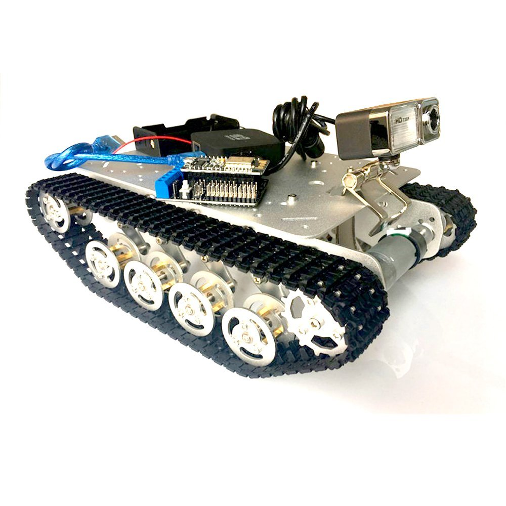 Intelligence WIFI RC Tank Mount Suspension System Aluminum Alloy Chassis RC Tank Chassis with NODEMCU Smart Camera Control Panel