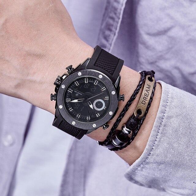 Men Watch Luxury Brand OLDENHOUR Fashion Analog Digital Sports Mens Watches Waterproof Silicone Quartz Watch Relogio Masculino 4