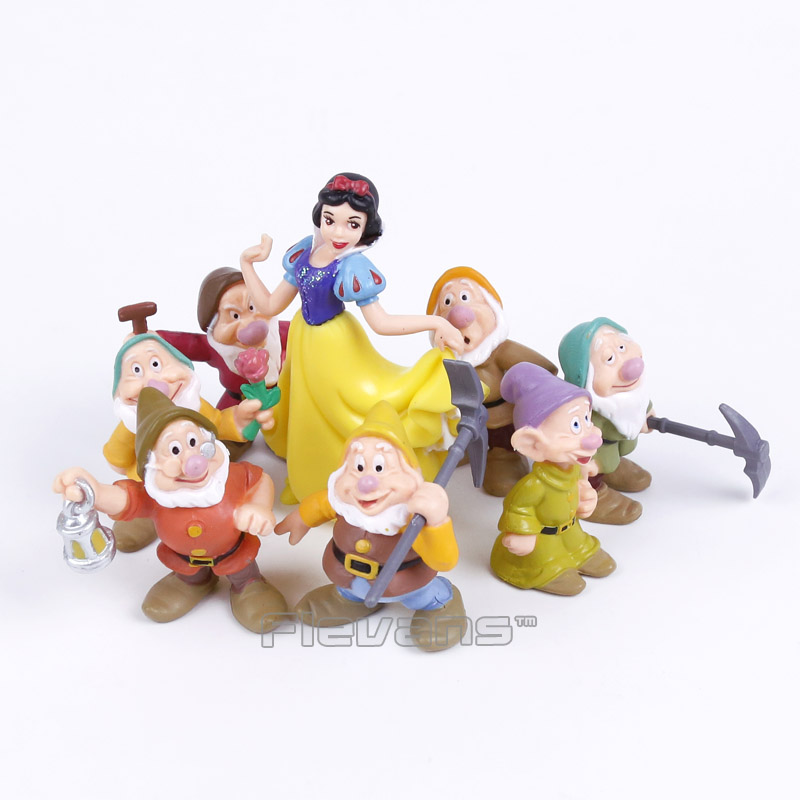 New Snow White and the Seven Dwarfs PVC Figures Toys Cake Topper Kids Toys Gifts 8pcs/set pb polo priv lockset