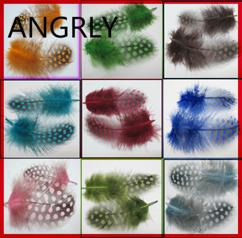100pcs Colour Keet Chicken Fowl Technology Feather Party Dressing Wedding Decoration Christmas Tree Wedding Invitations