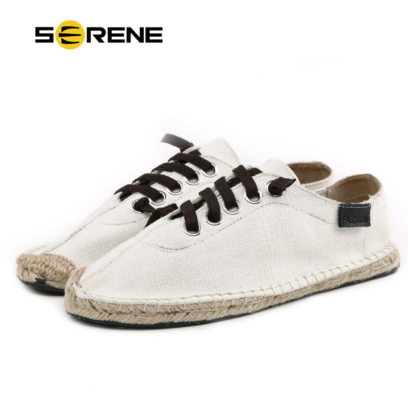 SERENE Marque Hommes Chaussures 3 Couleurs Homme Casual Toile Chaussures Plus La Taille 36-45 À Lacets 2017 Mode Adultes Blanc Street Style Chaussures