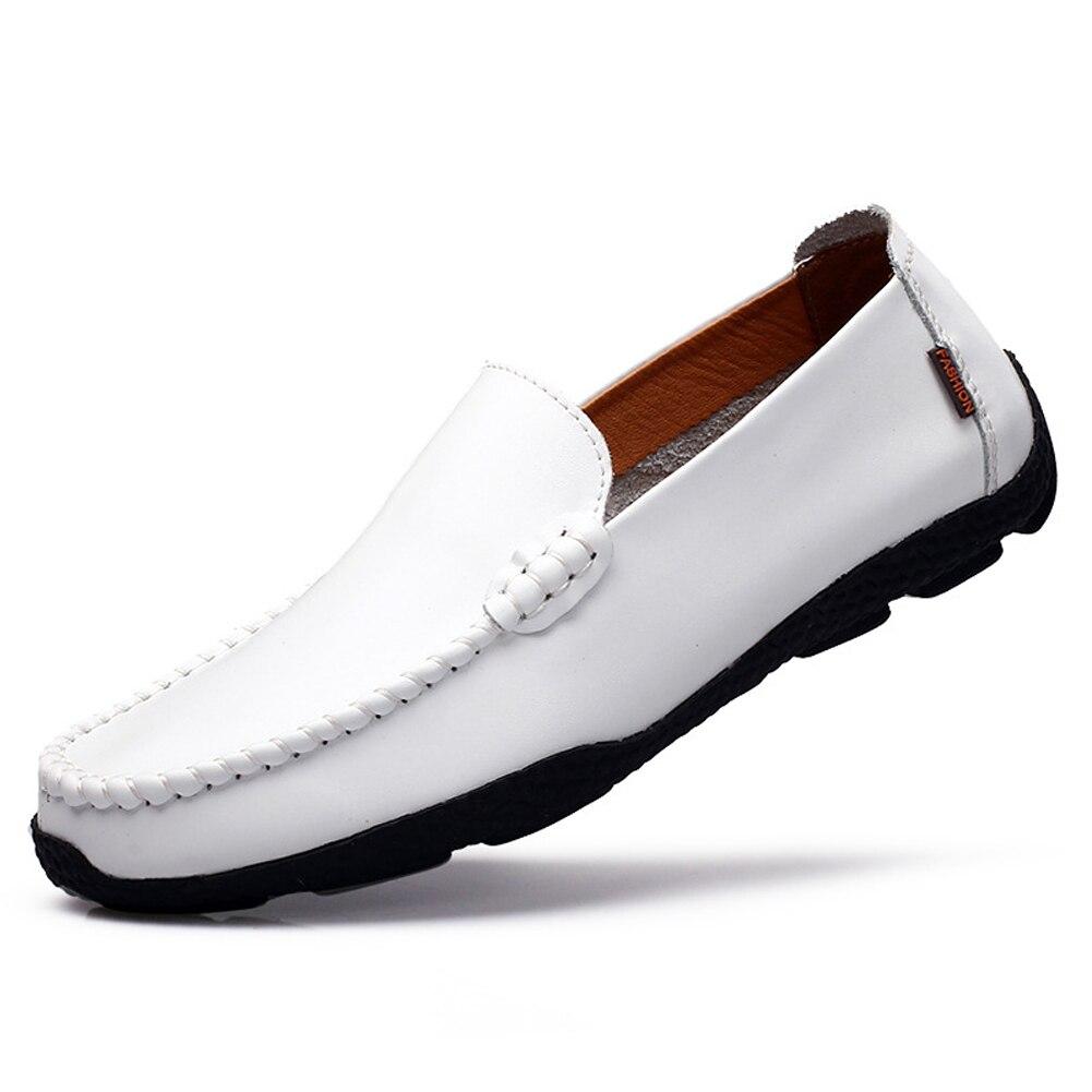 Respirant Des Chaussure Mocassins 1 blanc Noir Hommes Mocassin De Bateau bleu Paire Glissement Décontracté Marine Conduite Sur 7qxq18pTwt
