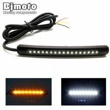 10PCS 12V LED Turn Signal Light Strip Motorcycle ATV Truck Car Integrated Bar Tail Brake Stop indicator fork