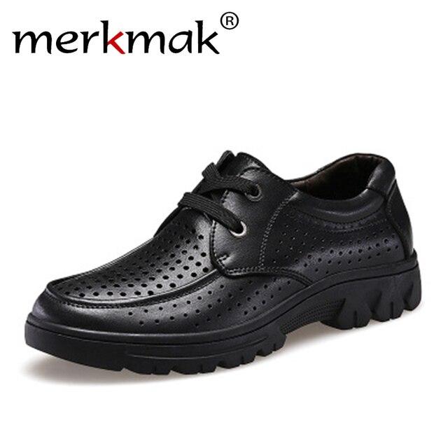 f60926369f Merkmak Tamanho Grande 37-50 Moda Handmade Homens Marca Genuínos Homens de couro  Sapatos de
