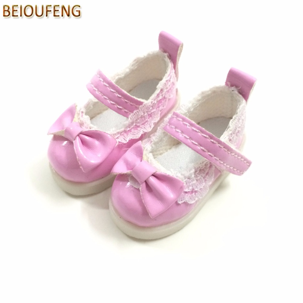 BEIOUFENG Butterfly Design Bow Tie Doll Shoes for BJD Doll,PU Leather 5CM Sneakers for Dolls,Textile Doll Boots 1/6 BJD Footwear uncle 1 3 1 4 1 6 doll accessories for bjd sd bjd eyelashes for doll 1 pair tx 03