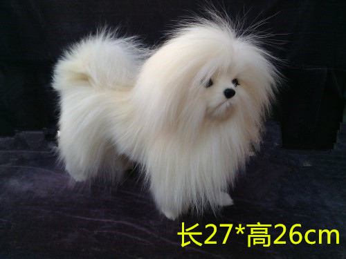 simulation cute white Shih Tzu 27x26cm model polyethylene&furs dog model home decoration props ,model gift d399 simulation cute sleeping cat 25x21cm model polyethylene