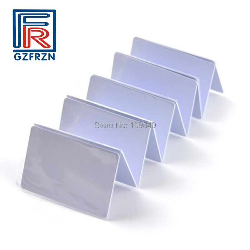 200pcs/lot 13.56mhz <font><b>ISO14443A</b></font> PVC Writable <font><b>UID</b></font> MF 1k RFID Card for NFC ACR122U reader-writer image