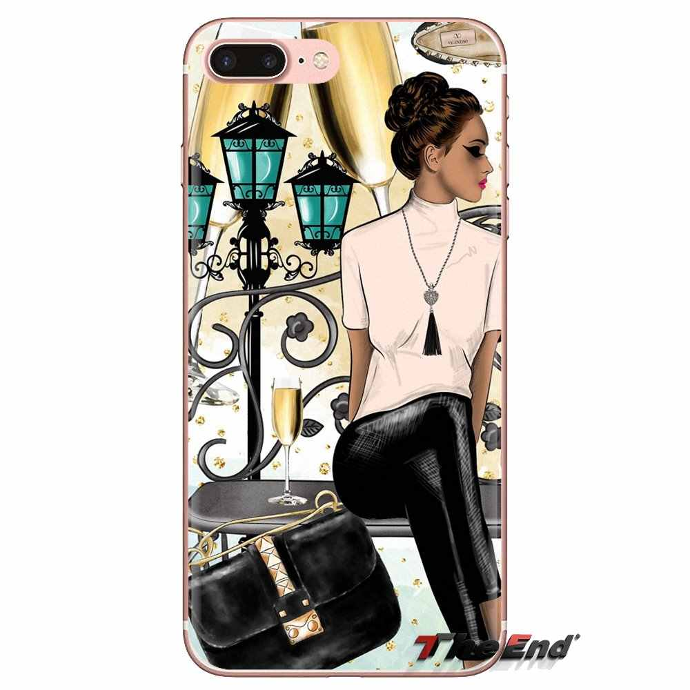 Transparent TPU Housing Black Brown Hair Baby Mom Girl Tree For Xiaomi Redmi 4A S2 Note 3 3S 4 4X 5 Plus 6 7 6A Pro Pocophone F1