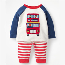 baby boys clothing sets new cotton applique autumn suits children t shirt + pants sets boy girls long sleeve 2 pcs set autumn children clothing sets newborn infant long sleeve baby boy letters printing t shirt stripe pants kids clothes 2 pcs sui
