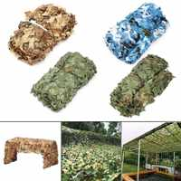Ourdoor Camo Net 1.5x7m/3X4m Woodland Camouflage Jungle Leaves With Hang Rope For Car Shade Cover Hunting Camping Blinding Net