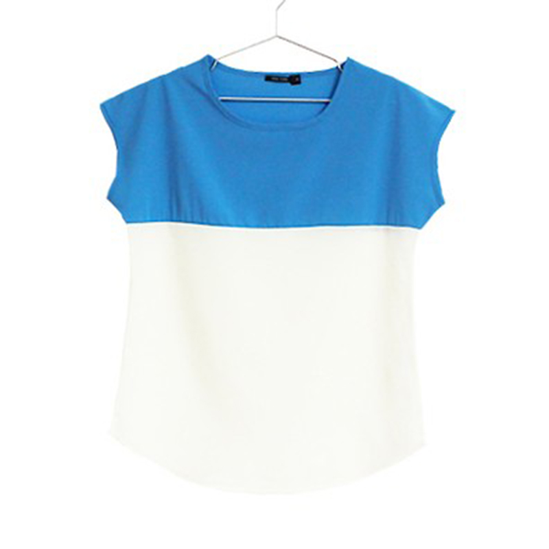 Aikooki New 2018 Women Shirt Fashion Spring Summer Chiffon Female Casual T Shirt Green Blue Tops Loose Party Sexy Elegant Cloths