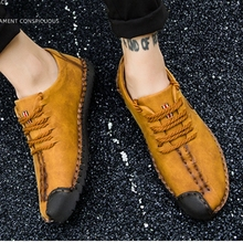 Classic Comfortable Quality Split Leather Shoes Mens Flats Moccasins Brand Big Size Sport Sneakers Extra Large Male Walk