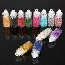 Мода 12 цветов мини блестящие бусины микро бусины Советы 3D дизайн ногтей акриловые УФ гель Set-43