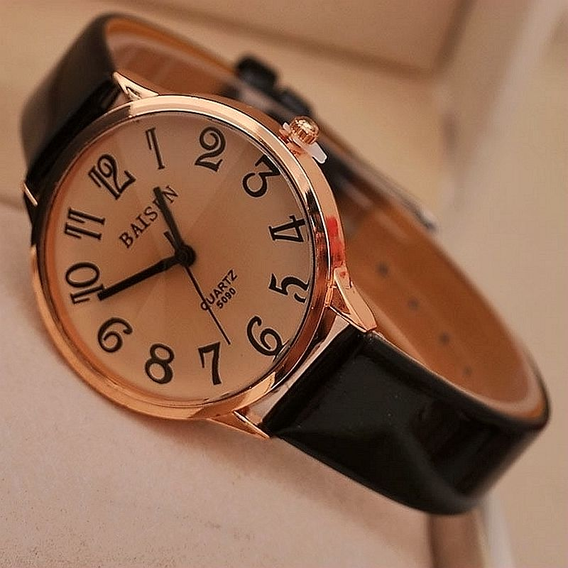 где купить New Simple Elegant Women Watches 2016 High-end Brand Wristwatches Fashion Ladies Leather Quartz Watch Reloj Mujer Clock Women по лучшей цене