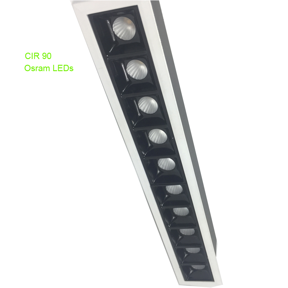 Jeweller של LED תקרת זרקור שקוע בוהק-משלוח ליניארי אור Fuxture 20 w 30 w גבוה CRI משרד Celing מנורה