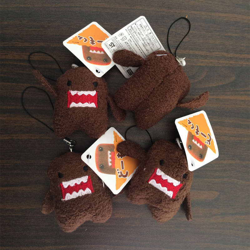 5Pcs/set DOMO KUN Plush toys 5cm mini Phone Charm Pendant Lanyard doll Bag Key chain domokun funny kawaii keyring Domo-kun toys japan domo kun creative kawaii plush toys domokun film cartoon plush stuffed doll baby infant child toys birthday xmas gift dash