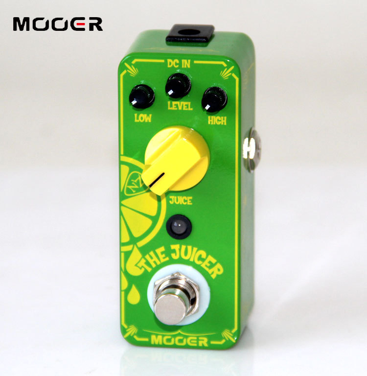 MOOER The Juicer Overdrive Pedal New effect guitar pedal True bypass switch Guitar effect pedal aroma adr 3 dumbler amp simulator guitar effect pedal mini single pedals with true bypass aluminium alloy guitar accessories