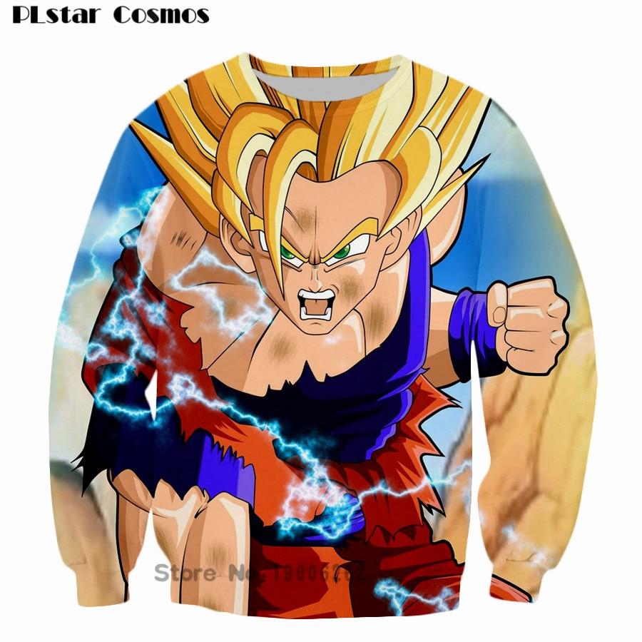 1374 40 De Descuentoharajuku Cómic Goku Hombres 3d Sudadera Jumper De La Bola Del Dragón Del Anime Majin Buu Cuello Redondo Sudaderas Con Capucha