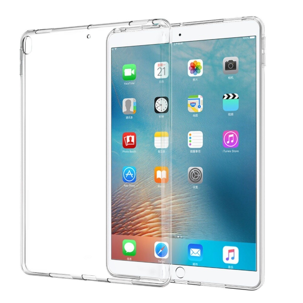 Soft TPU Silicon Case For iPad 2 3 4 5 6 Air 1 Mini 1 2 3 4 Clear Transparent Case Back Cover Tablet Case For iPad 9.7 2017 2018 soft tpu tablet back case for ipad air 1 2 silicone transparent cover for ipad mini 1 2 3 for ipad2 3 4 crystal protective case