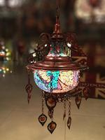 Bohemia turkish moroccan pendant light handmade mosaic stained glass Corridor Stairwell cafe restaurant hanging light lamp