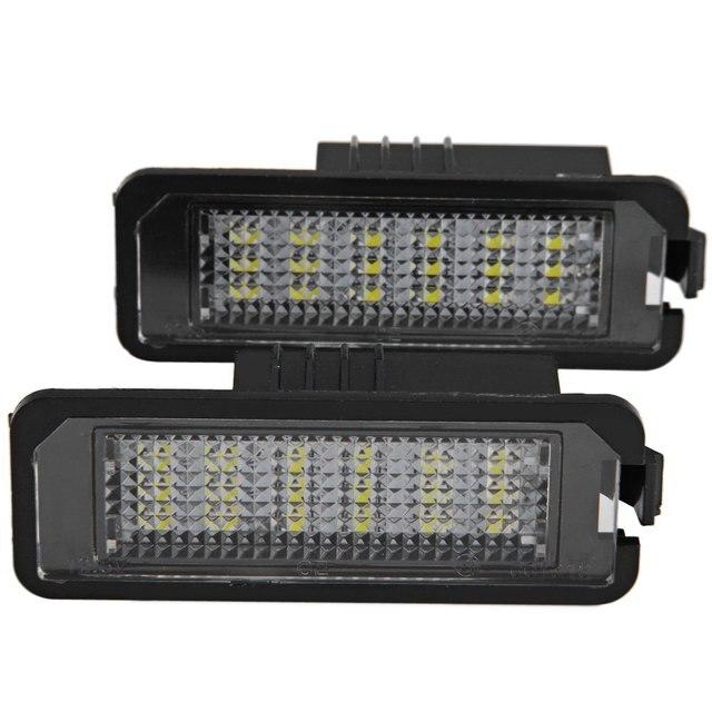 DC12V SMD 3528 White Light 18 LEDs License Plate Lamp 2pcs for VW Golf 4 Eos 06 LUPO 99 – 06 New Bettle 06 – 09