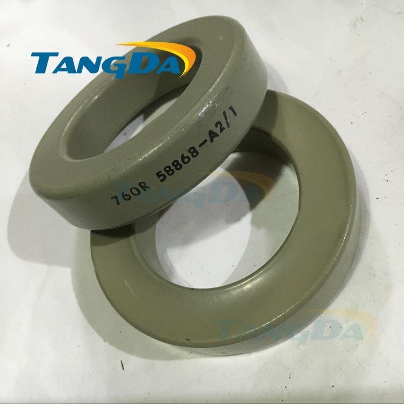 1 piece Tangda Iron nickel Cores 50%Fe + 50%Ni 760R 58868-A2 58868A2 SMPS RFI HI FLUX high Flux core 77.8*49.2*16 26u tangda iron nickel cores 50 50%ni ch234060 smps rfi hi flux high flux core 23 4 14 4 8 9 60u