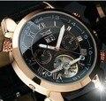 Роскошные оригинальные Брендовые мужские деловые массивные наручные часы Tourbillon автоматические механические часы с автоподзаводом Relojes