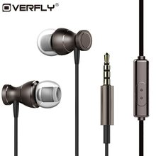 Overfly Stereo Headphones Bass Music Headset 3.5mm Earphone Magnets Sport Earpiece With Mic For Note 7 Samsung iPhone 7 MP3(China)