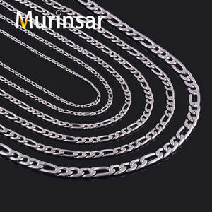 Stainless-Steel Chain Link Necklace Jewelry Wholesale High-Quality Men Width 9/11mm