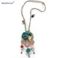 Макси ожерелье колье ручной работы роза цветок милые Подвески