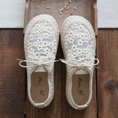 Shoes woman summer casual beach breathable lace womens flat shoes bow embroideryShoes woman summer casual beach breathable lace womens flat shoes bow embroidery