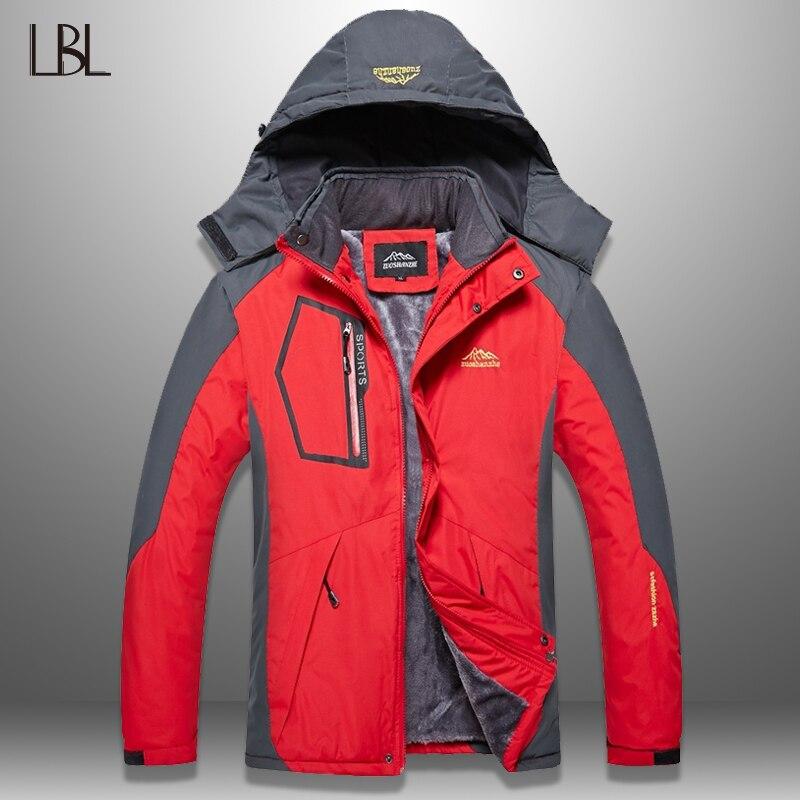 LBL hommes veste hiver imperméable hommes randonnée vestes Outwear manteau chaud homme épais à capuche veste homme polaire pardessus intérieur poche
