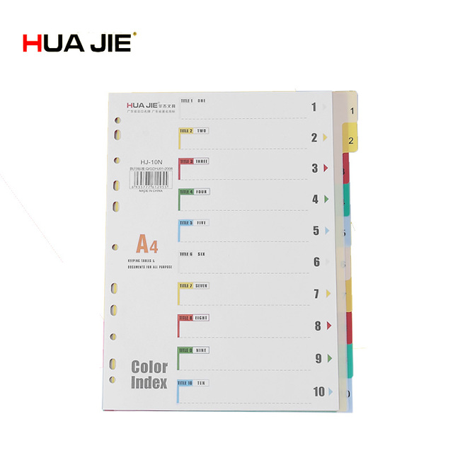 30 Tab Insertable Dividers For Ring Binder 10 Multicoloured Tab 3