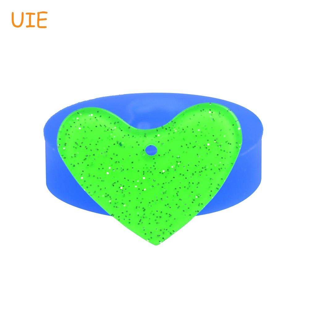 PYL469U 28.9mm Heart Shape Jewellery Silicoen Mold - Pendant Mold Cake Decorating Tools, Fondant, Resin, Candy Making, Clay Mold