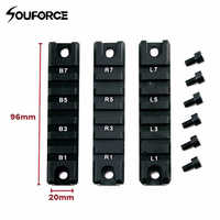 3pcs/Set Standard 20mm Weaver Base Picatinny RIS 20mm Short Rail for G36C Scope Mounts Rail Picatinny Rail Adapter