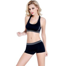 Women Fitness Stretch Tank Top Shorts Pants Suit Seamless Bra Sets