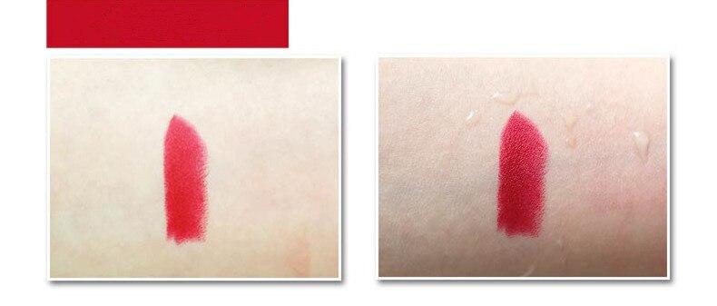 Beauty Matte Lipstick Long Lasting Cosmetics Maquiagem Women Makeup Red Batom Pigments Waterproof Lip Stick Pintalabios Mate 18