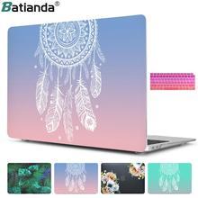 Пластиковый жесткий чехол с крышкой клавиатуры для MacBook Air 13 11 Pro 13 15 retina дисплей и сенсорная панель Новый 12 13 дюймов Ловец снов