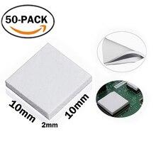50 шт./лот Gdstime 10 мм X 10 мм x 2 мм белый теплопроводность теплопасты Соединения колодки