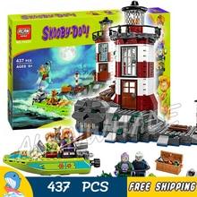 437 unids embrujada faro 10431 scooby doo perro modelo ladrillos bloques 3d niños niños niños juguetes regalos set compatible con lego