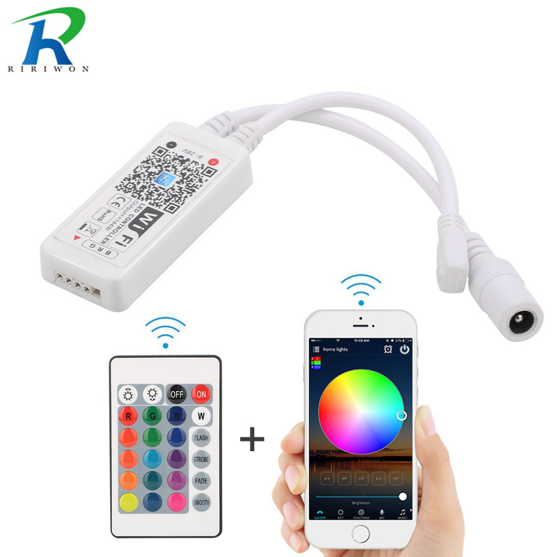Mini Bluetooth WiFi LED Controller DC 5V 12V For RGB / RGBW LED Strip SMD 3528 5050 2835 Control Music and Home WiFi Controller tsleen dc 5v 12v 24v mini wifi bluetooth led rgb rgbw controller by smartphone app control for smd 5050 3528 rgb led strip light