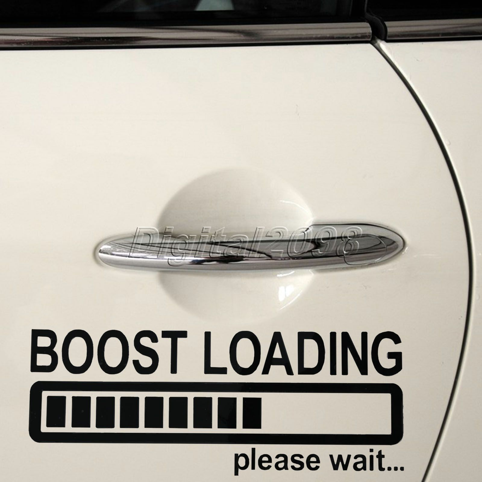 Yetaha New BOOST LOADING...please wait Car Stickers 19.9*7.9cm Car Styling Sticker Reflective Car Decal for JDM Turbo Diesel