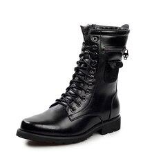 Бесплатная доставка горячей продажи высокого качества моды сапоги мотоцикла сапоги ботинки для Мужчин Кожаные ботинки размер 38-43-LK9616